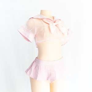 Image 3 - Sexy Cosplay Costume Student Sailor with Black and Pink color uniform Kwaii transparent Lolita Top Skirt Panty Erotic Roleplay