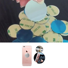 10 pcs/lot 40 mm Magnetic Patch Phone Back Magnetic Sheet Round Iron Sheet For Car Magnetic Phone Stand Holder With Glue