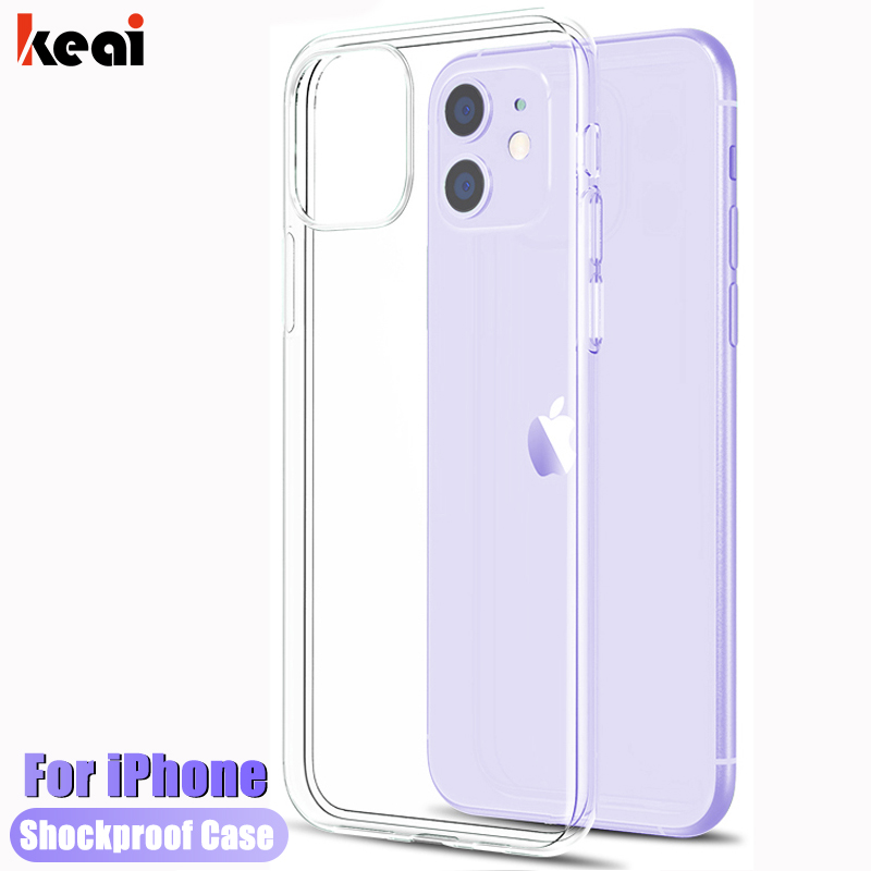 Luxury Clear Soft TPU Phone Cases For Apple iPhone 11 Pro XS Max XR 8 7 6S 6 Plus 5S SE 2020 Shockproof Silicone Soft Back Cover