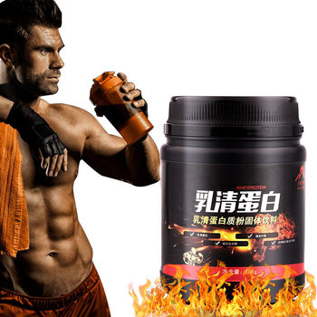 Polvo de proteína de suero de leche, suplemento de Fitness para culturismo, fácil de agregar, peso muscular, 1 botella de 500g