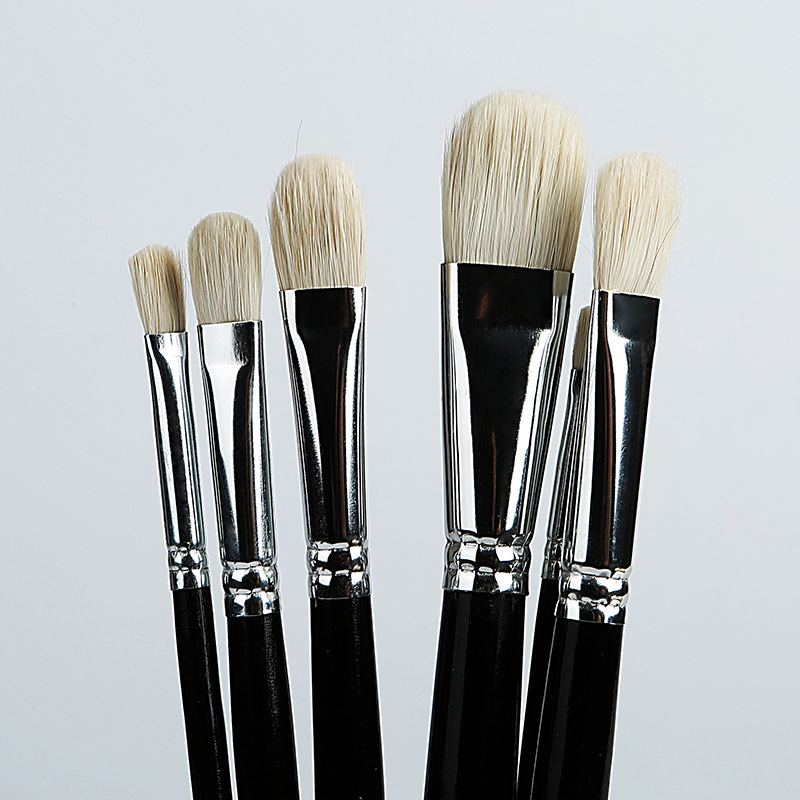 6pcs Art Brush Round Pointed Painting Brush Oil Paint Wool Hair Water Color Acrylics Brush Pen Pincel Para Pintura Art Supplies