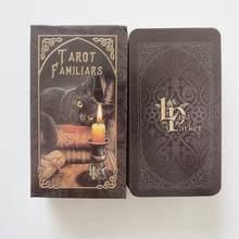 Novo tarô deck oráculos cartas adivinhação misteriosa familiars tarô cartas para meninas jogo de tabuleiro
