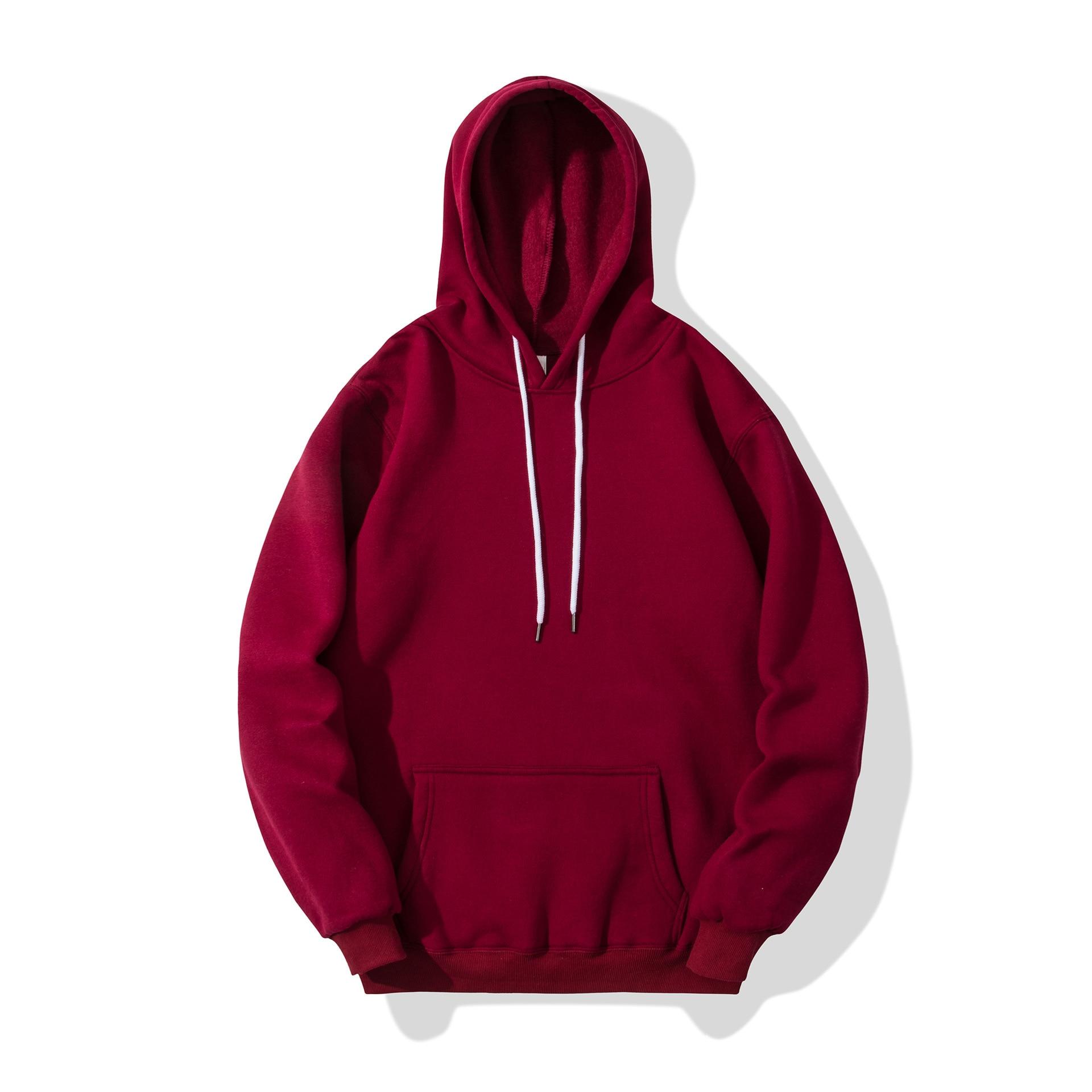 Hot 2019 Fashion Brand Men's Hoodies Casual Hoodies Sweatshirts Autumn Winter Solid Color Pullover Tops Men Women Sweatshirt
