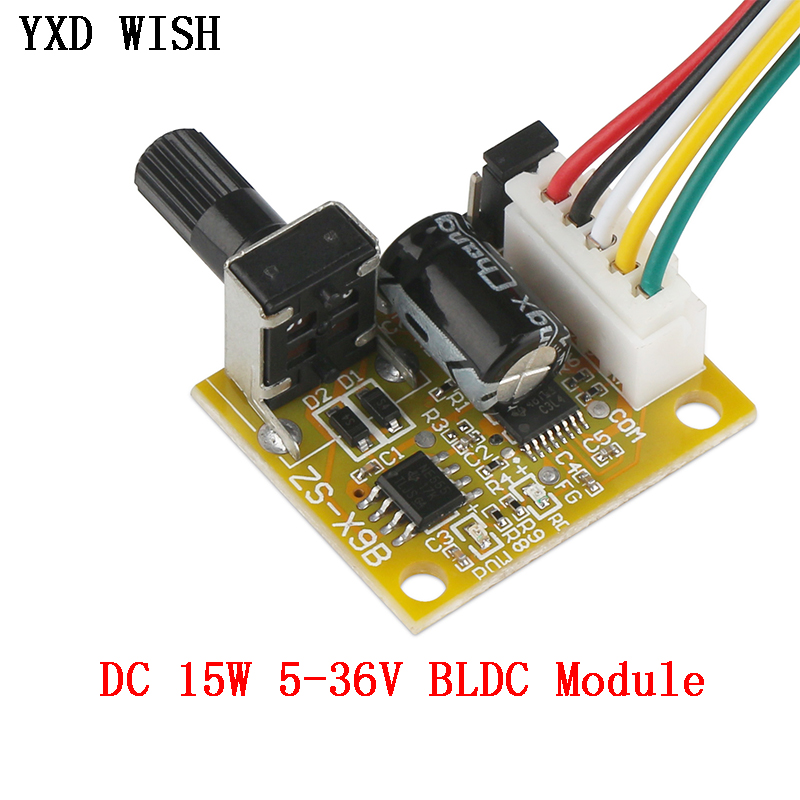 <font><b>DC</b></font> <font><b>5V</b></font>-<font><b>12V</b></font> 2A 15W BLDC <font><b>Brushless</b></font> Motor Speed Controller No Hall BLDC Motor <font><b>Driver</b></font> Sensorless Speed Controller <font><b>Board</b></font> image