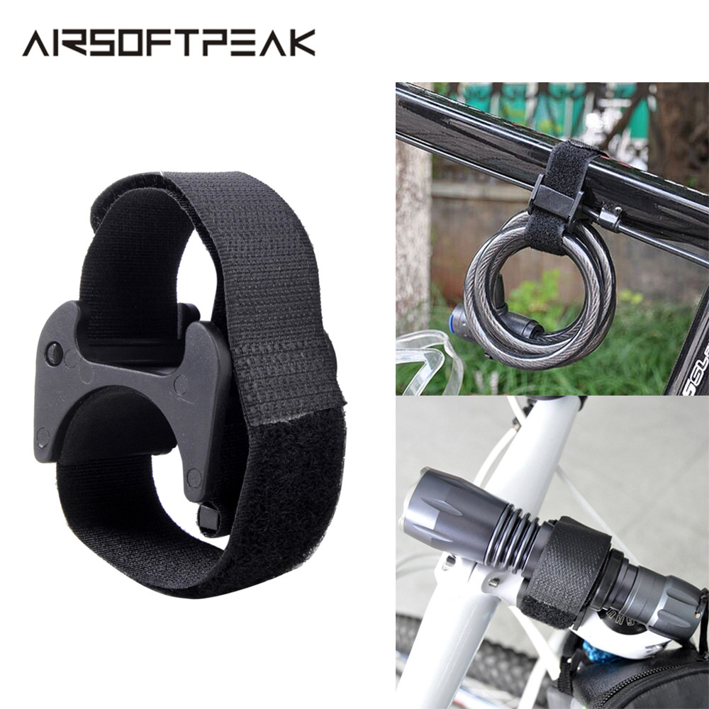 LED Bicycle Flashlight Head Light Torch Strap Light Clip Clamp Lock Block Cycle