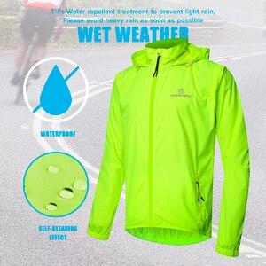 Image 3 - QUESHARK chaquetas de ciclismo a prueba de viento para hombre y mujer, ropa de ciclismo impermeable, camisetas sin mangas de manga larga