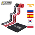 2PCS Mobility Recovery Bands mma Compression Muscle Floss Band Rubber Resistance Band For WOD/Yoga/Boxing/MMA Training Free Bag