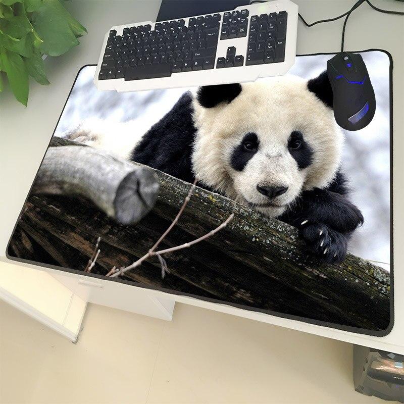 XGZ Animal Large Size Mouse Mat Locking Rare Cute Black and White Panda Pattern Laptop PC Mat Rubber Universal Non-slip