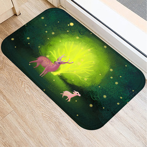 Image 5 - 森アニマル柄ノンスリップ寝室装飾カーペット台所の床リビングルームのフロアマット浴室ノンスリップドアマット40x60cm。