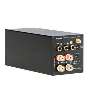 Image 3 - SMSL SA300 HiFi wzmacniacz mocy cyfrowy wzmacniacz dźwięku Bluetooth 5.0 32bit/384kHz Subwoofer z pilotem niebieski i czerwony i czarny