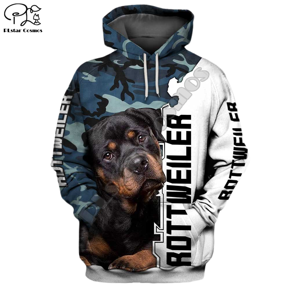 Mens Funny  Rottweiler Dog 3d Print New Hoodies Autumn Long Sleeve Sweatshirts Women Pullover Tracksuit Hoody Spring Outwear