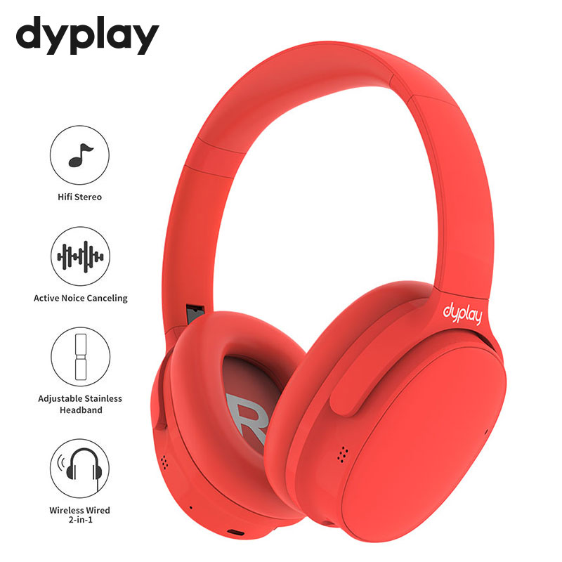 ANC Bluetooth Earphone Active Noise Cancelling Headphone With Microphone Wireless Headset With Case Box Hifi Stereo