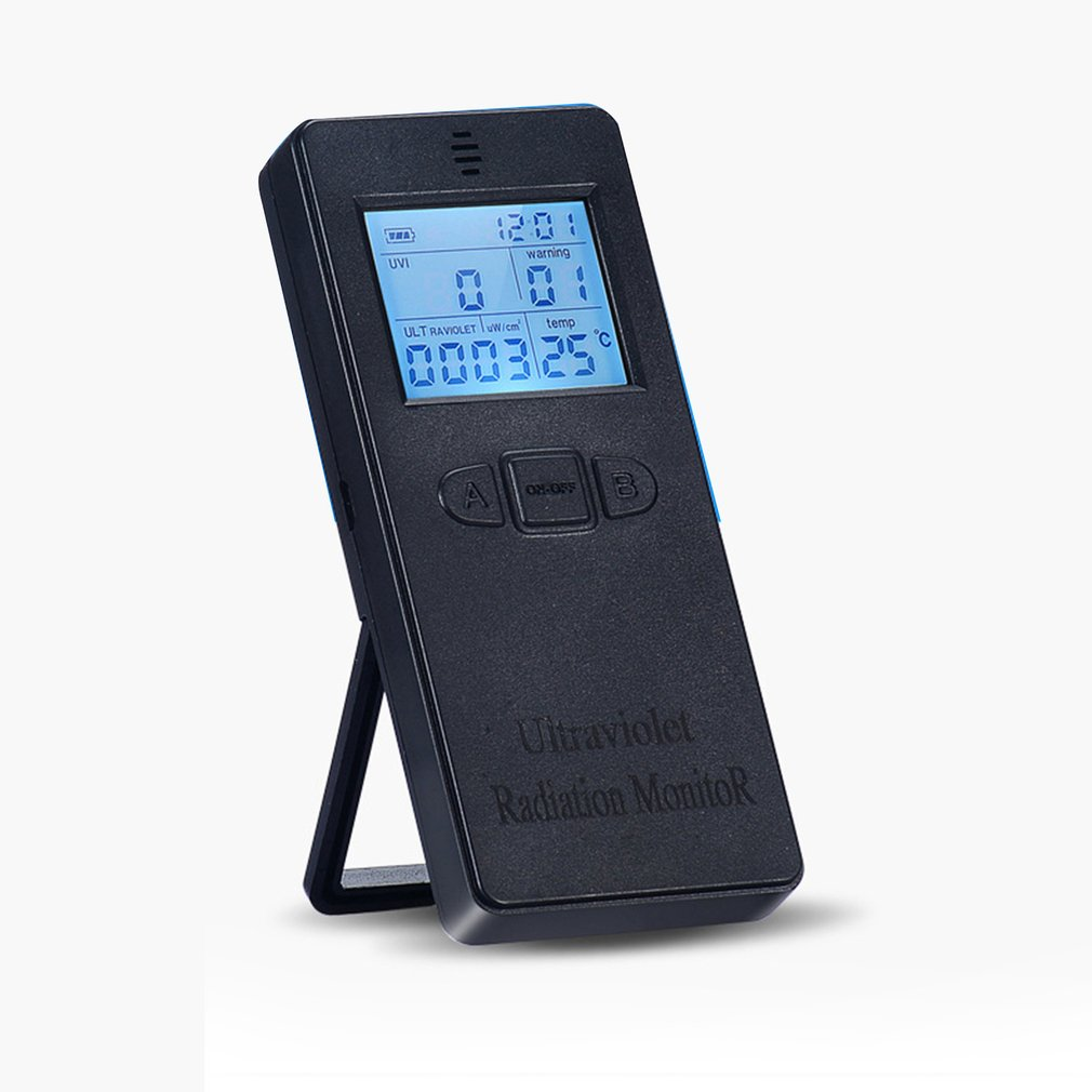 Digital Ultraviolet Radiation Detector UV Meter Dosimeter Electromagnetic Field Radiation Tester With Temperature Display