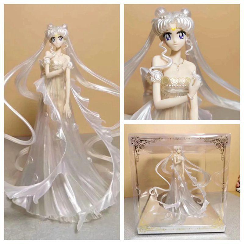 25cm Sailor Moon Tsukino Usagi Action Figure PVC Collection Model Toys Brinquedos For Christmas Gift