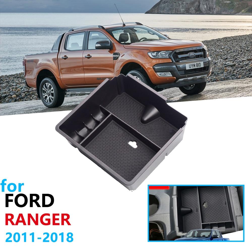 Автомобильный Органайзер аксессуары для Ford Ranger 2011 2012 2013 2014 2015 2016 2017 2018 2019 на Wildtrak подлокотник ящик для хранения
