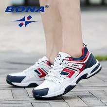Bona Мужская Спортивная обувь со шнуровкой кожаные кроссовки