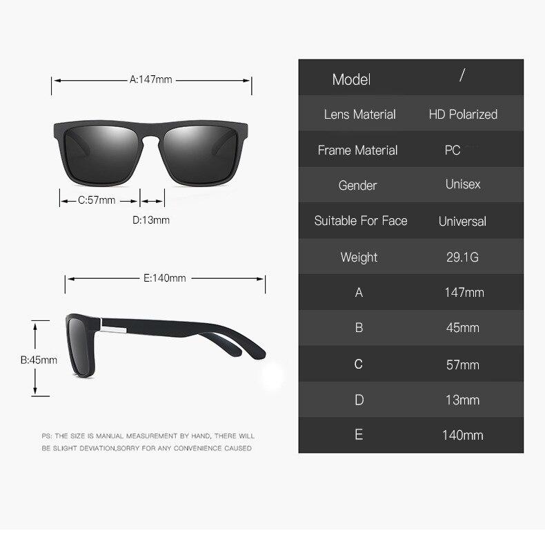 Men Women Driving Square Frame Sunglasses Polarized Shockingly Colors Glasses Outdoor Driving Sunglass UV400 Oculos De Sol in Men 39 s Sunglasses from Apparel Accessories