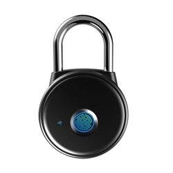 Kłódka na odcisk palca  inteligentna aplikacja na kłódkę bez rejestracji  Ip65 odporna na warunki atmosferyczne  blokada Bluetooth z bezkluczykowym biometrycznym odpowiednim w Zamki elektryczne od Bezpieczeństwo i ochrona na