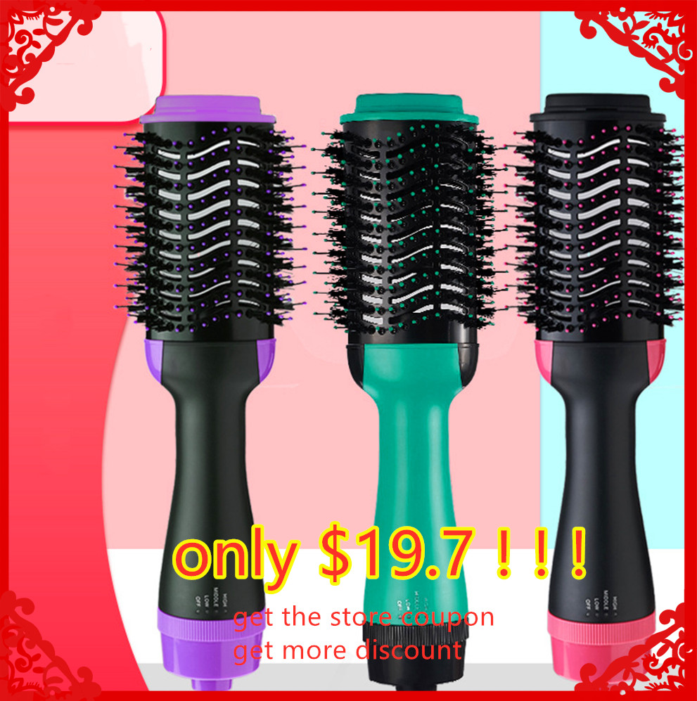 Multifunctional 2 in1 Hair Dryer Volumizer Rotating Hair Brush Roller Rotate Styler Comb Styling Straightener Curling Party gift