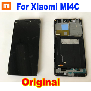 Image 1 - 100% Original NEW LCD Display Touch Panel Screen Digitizer Assembly with Frame For Xiaomi Mi4C M4C MI 4C Phone Sensor Pantalla