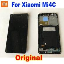 Pantalla LCD para teléfono Xiaomi Mi4C M4C MI 4C MONTAJE DE digitalizador de Pantalla de Panel táctil con Marco, Sensor de Pantalla, 100% Original