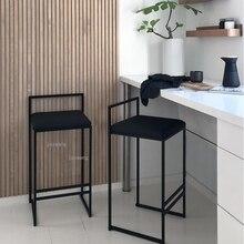 Bar Chair Furniture High-Stool Industrial-Style Home-Bar Nordic Modern Backrest Minimalist