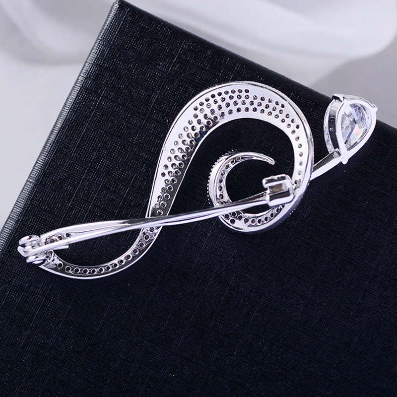 Bad Guy Zircon Brooches for Women's Brooch Pin Accessories for Clothes Decoration Brooch Pins Metal Note Broche Kpop Pins-2