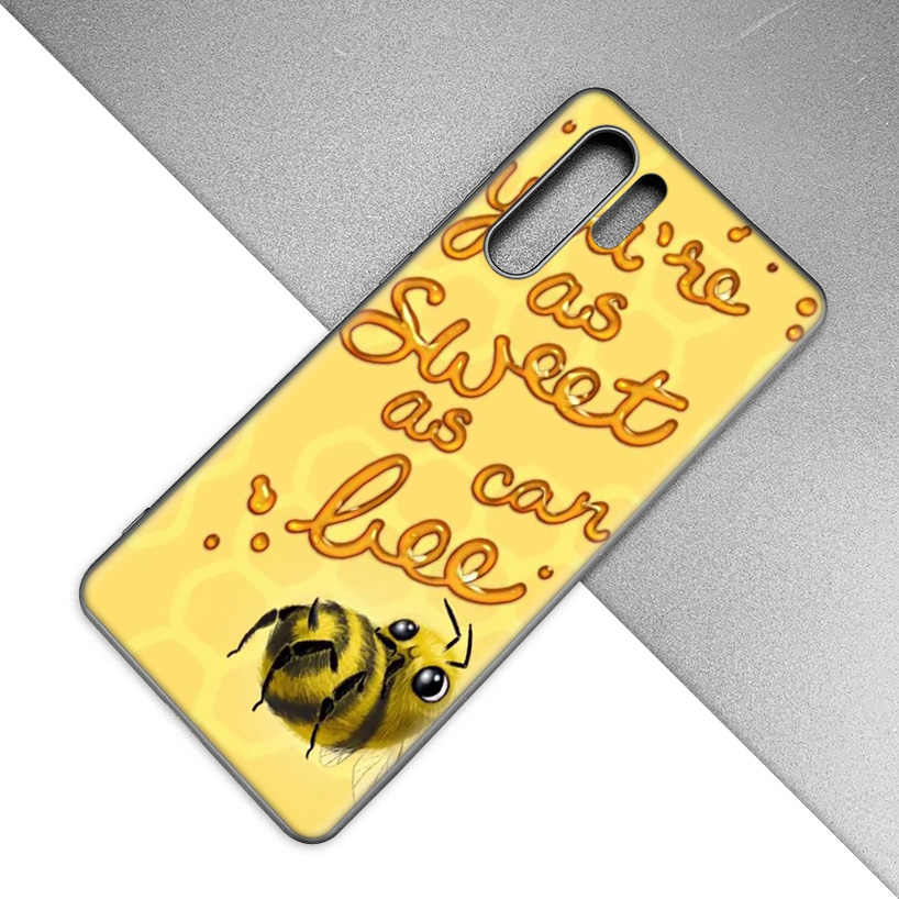 الذهبي العسل العسل النحل TPU لينة الهاتف حافظة لهاتف huawei P20 P30 P9 P10 زميله 10 20 30 لايت برو P الذكية زائد Z 2019 2017 غطاء S