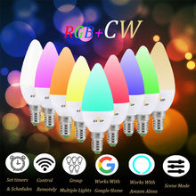 1PCS Wifi Smart LED Bulb Magic Light Bulb Lamp Color Changing Compatible With Amazon Alexa And Google Home Assistant E14(China)