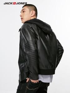 Image 3 - Jack Jones  Mens Biker Outwear PU Leather Jacket