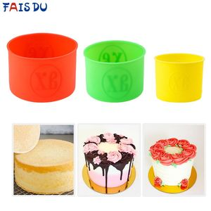 No-stick Round Silicone Cake Mold Random Color Mousse Cake Moulds DIY Desserts Baking Mold Tools(China)