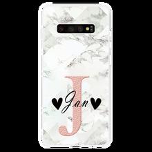 Marble Luxury Custom DIY Name Phone Case For Samsung Galaxy S10 S20 Ultra S8 S9 Plus A40 A50 A70 A51 A71 A31 A41 M31 M11 Case