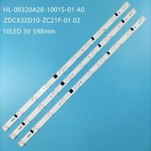 Retroiluminação led para HL-00320A28-1001S-01 10 32LEM-1009/T2C 180.DT0-32D900-0H LE-32D7 JSL ZDCX32D10-ZC21F-02 H32B3100E CX315DLED