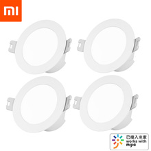 מקורי Xiaomi Mijia חכם Led Downlight Bluetooth רשת גרסה נשלט על ידי קול שלט רחוק להתאים טמפרטורת צבע