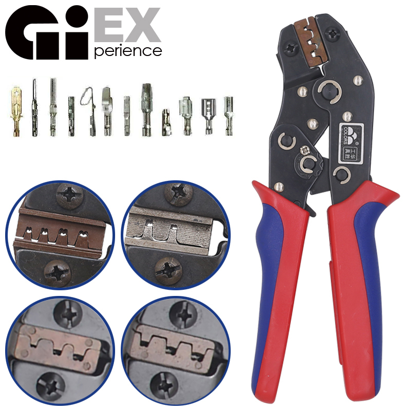 DuPont Terminals Crimp Pliers And Interchangeable Dies Wire Crimper Crimping Tools Ratcheting 7Inch SN-28B SN-48B SN-2 SN-01BM(China)