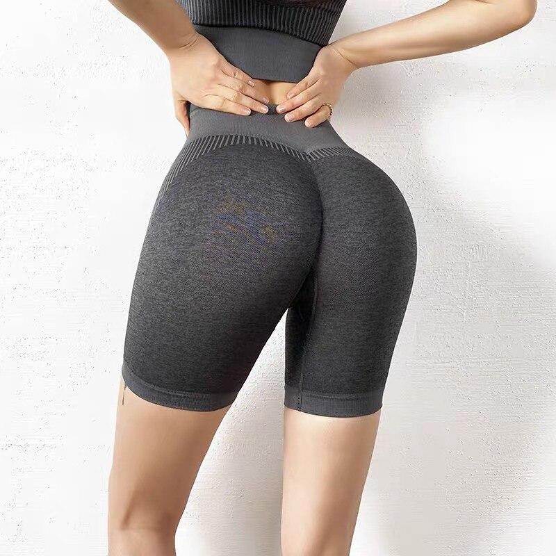 Shorts esportivos sem costura vital, para exercícios,