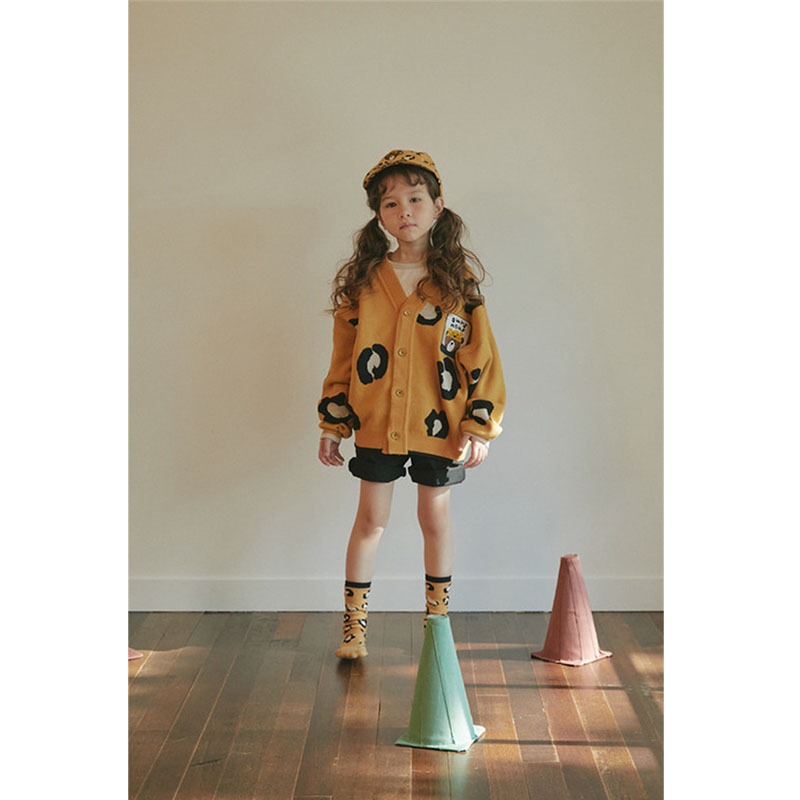 Kids Sweater Girl Leopard Clothes Overall Boys Coat Matching Children Korean Brand New Autumn Winter Clothes Knitted Overalls 5