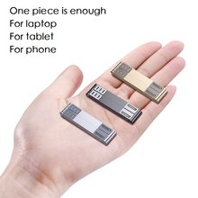 New 3in1 mini portable Metal holder tablet phone laptop stand folderable variable silver black pad holder for school home office