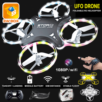 3WBOX mini drone Induction Drone Smart Watch Remote Sensing Gesture Aircraft UFO Hand Control Drone Altitude Hold Kids toys