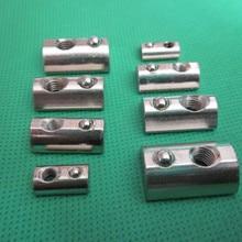 Nut Elastic-Nut 20-Aluminum-Profile Half Steel-Ball-Nut-Block M4 Round for Eu-Standard