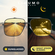 LIOUMO Aluminum Magnesium Fashion Oversized Sunglasses Men P