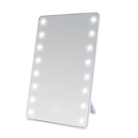 16 leds luz espelho de maquiagem tela sens vel ao toque led espelho cosm ticos