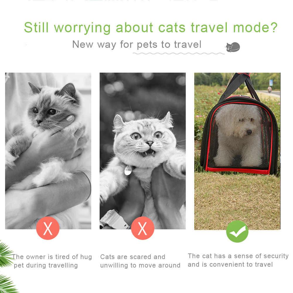 Tragbare Haustier Tasche für Katzen Hunde Pet Zwinger Katze Träger Hund Träger Haustier Träger Tasche für Kleine Hund Oxford tuch haustier Reisetasche