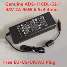 Oryginalne 48V 2A 96W 6 5 #215 4 4mm ADS-110DL-52-1 480096G AC przejściówka dla AMCREST NV4108E Dahua Hikvision POE Monitor ładowarka tanie tanio EKAWI CN (pochodzenie) Uniwersalny EU US UK AU