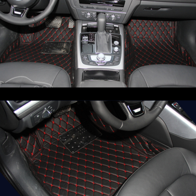 leather car floor mat for audi a6 c7 2017 2016 2015 2014 2013 2012 rug carpet accessories interior styling avant image