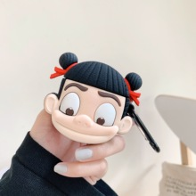 Cute Earphone Case For Airpods 2 cartoon Nezha Silicone Headphone Protector Cover Apple AirPods