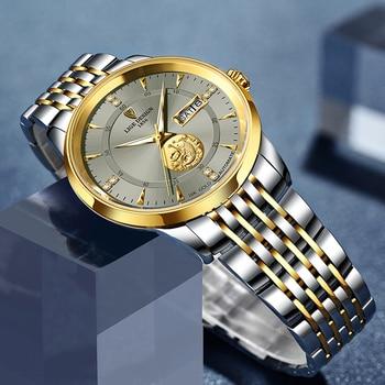 2021 LIGE New Fashion Wrist Watch Men Automatic Mechanical Tourbillon Stainless Steel Waterproof Business Men Watches Gift Clock