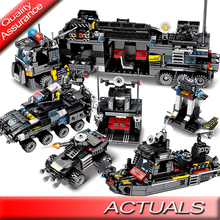 Sembo Constructor Police Creativity Man Technic Car Building Blocks City Compatible DIY 8 Figures Bricks 8in1 Toys 695pcs