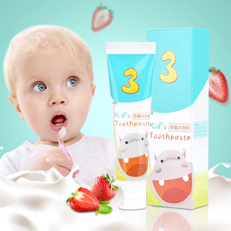 Y-kelin  New Arrival Children Toothpaste Children's Fluorine Free  Anti-caries Organic Toothpaste Teeth Whitening Cleaning