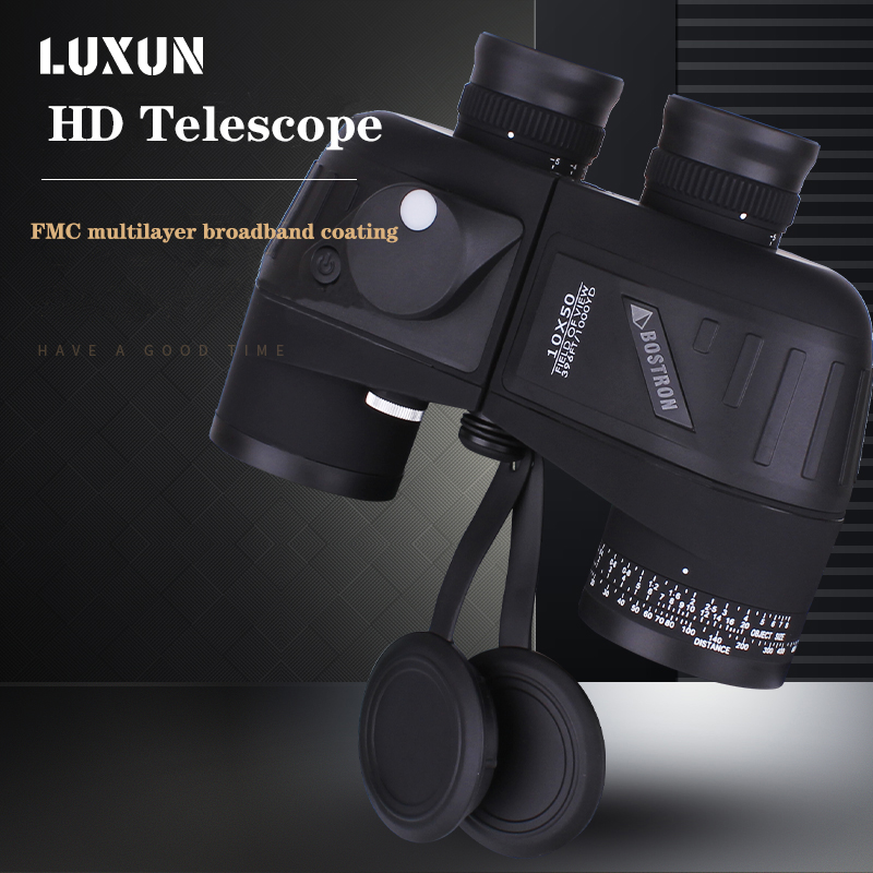 10X50 With Compass Military Navigation Telescope Night Vision Binoculars For Professional Voyage Powerful High Quality Telescope